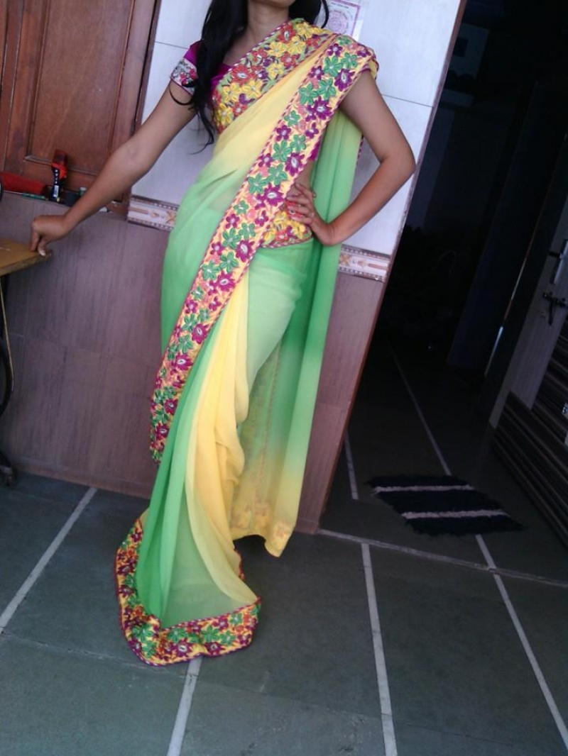 Sunshine Selfie Saree